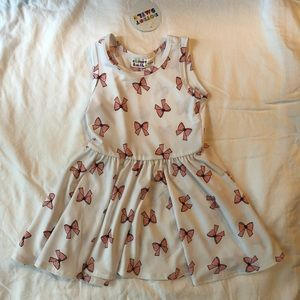 NWT Dot Dot Smile Pink & White Bow Tank Dress